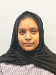 Saarah Khan : Receptionist